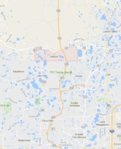 map of Odessa shows ATZ irrigation service area for Odessa Sprinkler Repair