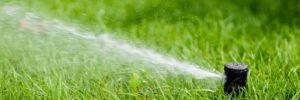 Sprinkler operating correctly after repair