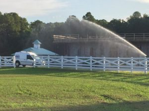 atz irrigation truck at a large commercial property