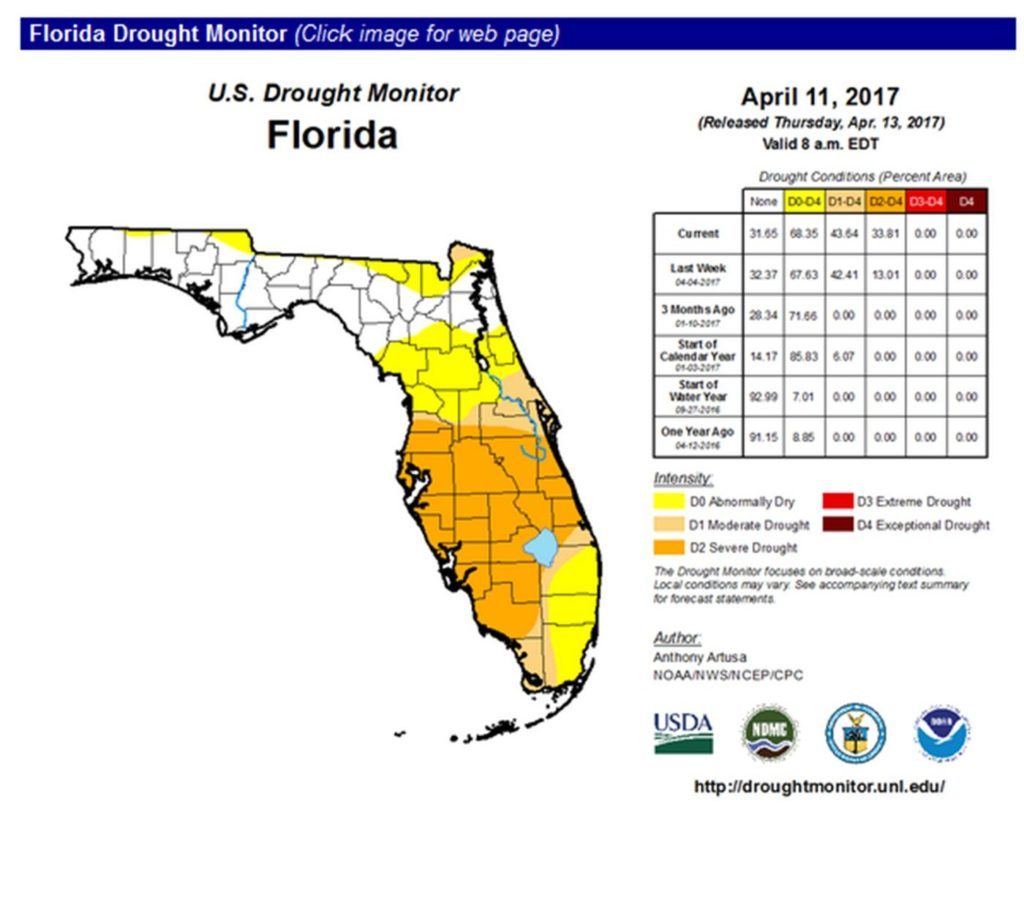 Map of Tampa Bay Drought