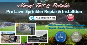 ATZ Irrigation lawn Sprinkler repair Tampa Bay