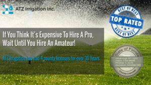 ATZ Irrigation # 1 best lawn sprinkler repair service in Tampa, Clearwater, and Tarpon Springs