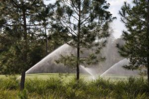 working irrrigation system with 3 sprinkler heads