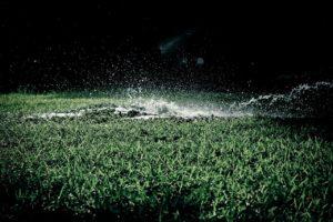 irrigation over-watering caused by a broken sprinkler head